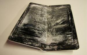 really broken and bent iPad