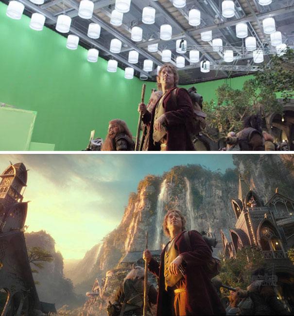 the hobbit green screen