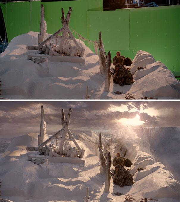 green screen scene game of thrones