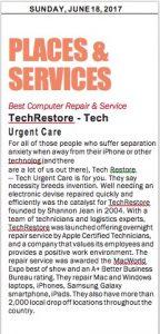 A Big Award and a Big Announcement, TechRestore