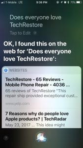 TechRestore vs Siri Where it Really Matters, TechRestore