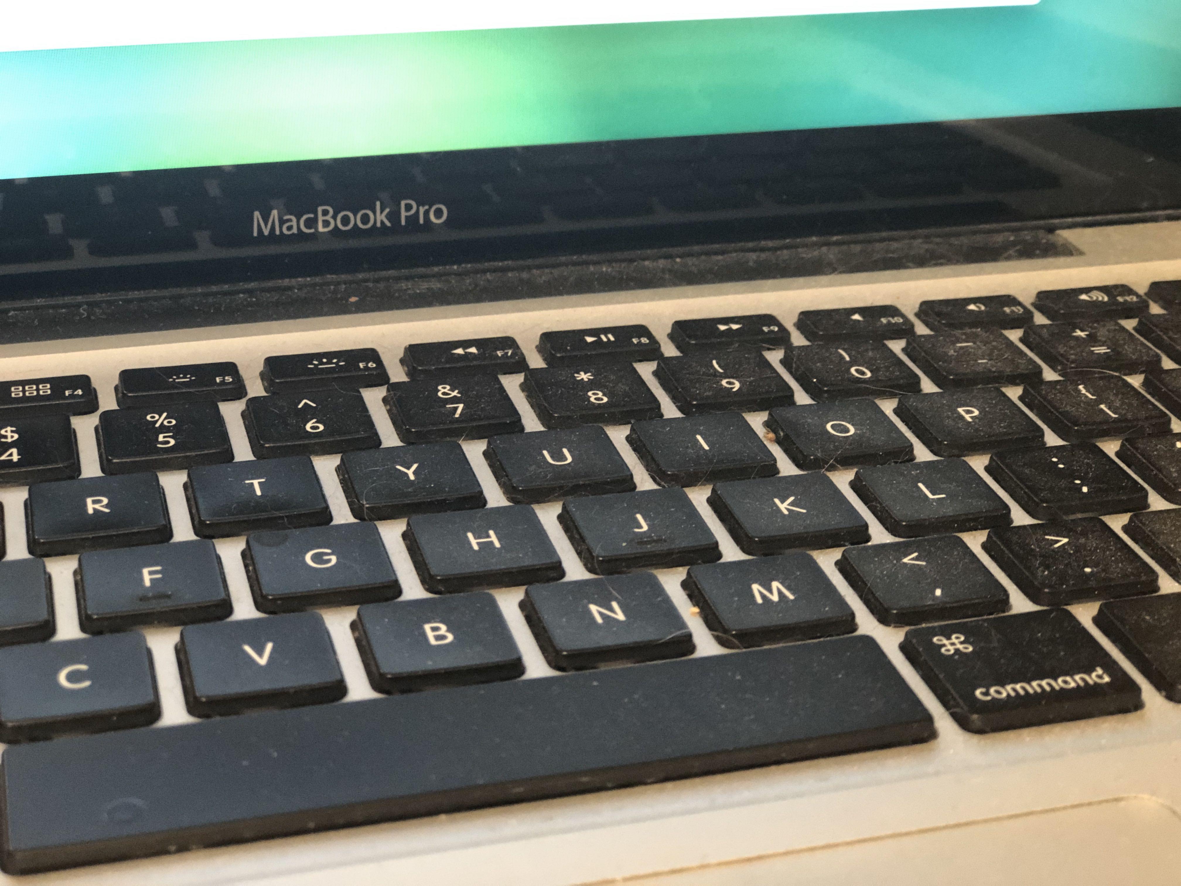 dirty MBP keyboard